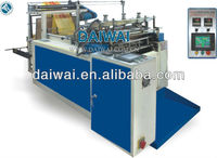 Automatic High speed t-shirt plastic bag heat sealing and cutting machine,polythene bag making machine