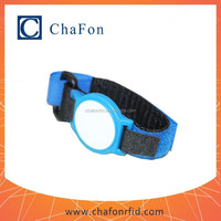 waterproof uhf rfid wristband tags school/fairground/bus/access control nylon/abs material with custom printing optional color