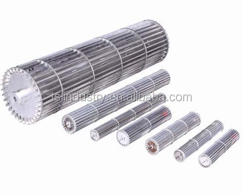Cross Flow Fan : Aluminum cross flow fan impeller air curtain