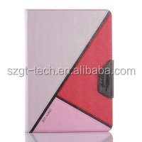 Meteor Shower color real PU leather case with stand flip cover case for ipad air 2