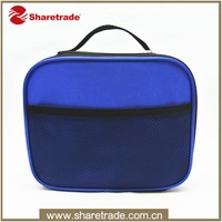 Hot Sale Deep Blue Promotional Custom Men Cosmetic Bag With Front Mesh Pocket