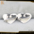 2017 Fashion stainless steel jewelry set heart shape shiny necklace for cheap fashion jewelry made in china