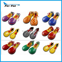 New Design Adult PU Leather Clown Shoes Clown Cosplay Shoes