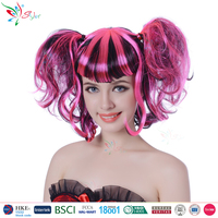 Styler Brand 100% polyester party curly hair wig wholesale cheap make doll wig