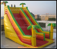 Inflatable slide, inflatable colourful slide with tree for sale