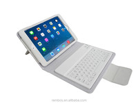 Leather Bluetooth Keyboard Case for iPad Mini 2, Fold Tablet Wireless Bluetooth Keyboard Case