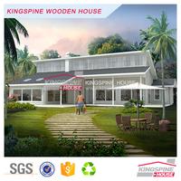 Indian prefabricated 1-floor wooden club Prefab Log house manufactory price KPL-109