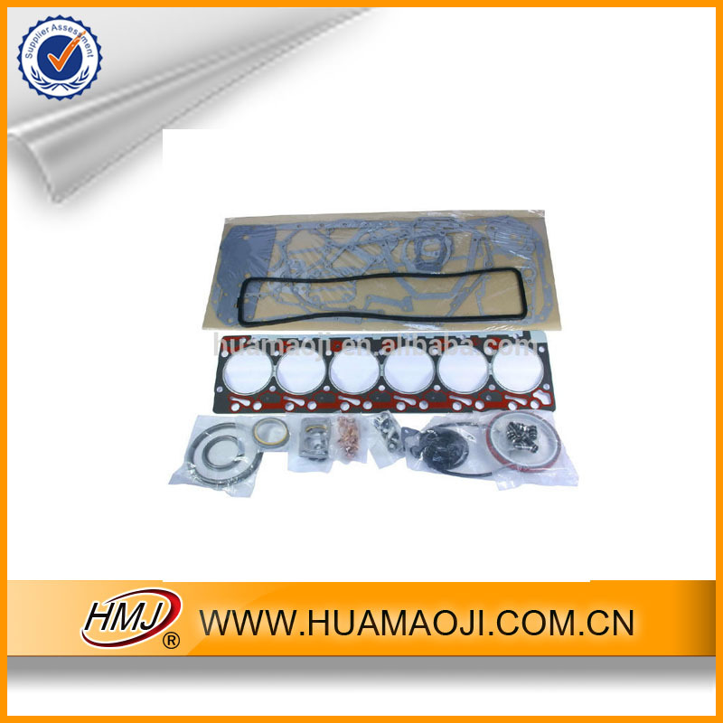 HMJ low price cylinder head 6D102 engine gasket kit for excavator