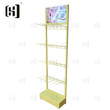Light duty toothbrush metal display stand rack for shops