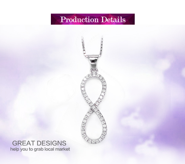 Simple design cz stone sterling silver circle of life pendant