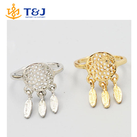 >>>>New fashion accessories jewelry gold plated Dream catcher finger ring for women girl nice gift