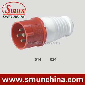 16A 4p 380v industrial plug 3P+E IP44 waterproof electrical plug and socket