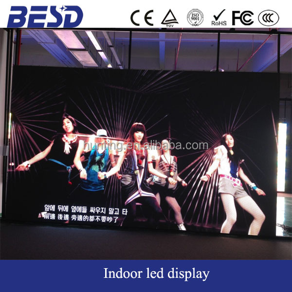 BESD indoor P5 rental aluminium alloy led screen for Brazil 31st International Music Fair