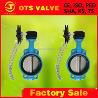 BV-SY-183 fire protection butterfly valve with stainless steel chain Pinless