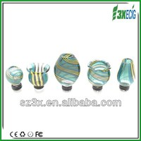 New!3X Hand Art glass drip tip for e cig