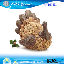 Thanksgiving Holiday resin Turkey figurine Decoration Centerpiece
