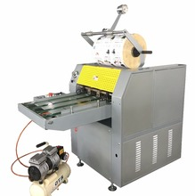 SWFM520C takeing break Automatic two sides veneer hydraulic pressure oil heating paper laminating machine
