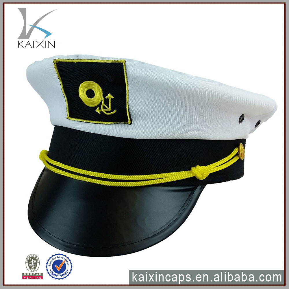 embroidered sailor hat