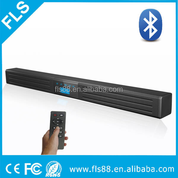 Supper slim design speaker sound bar with bluetooth musicing streaming tabletop audio system