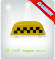 dc 12 volt Magnetic Taxi Top Sign Taxi Light Roof Top Taxi Magnetic
