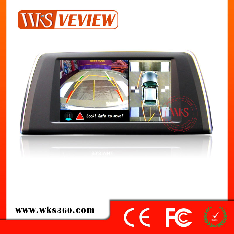 Car 360 degree perfect monitoring system panoramic view and moving parking guide lines car dvr four channels