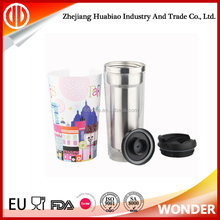 wholesale stainless steel travel mug picture insert