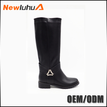 OEM orders acceptable leisure leather knee high boots