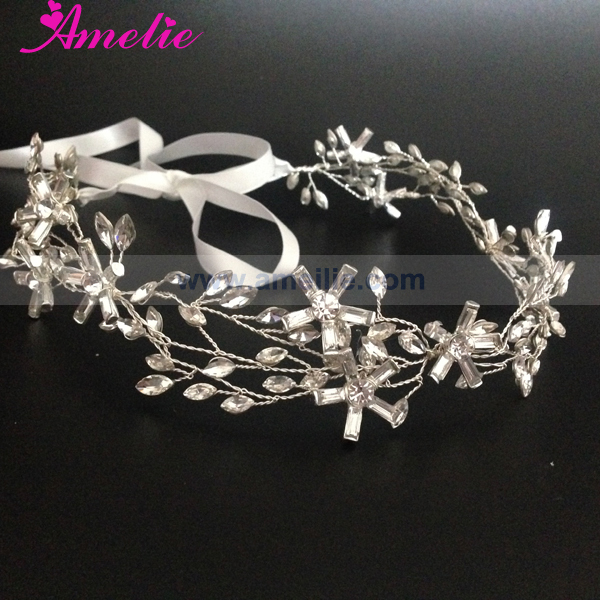Marquise Crystal Bridal Headpiece Elegant Hair Vine