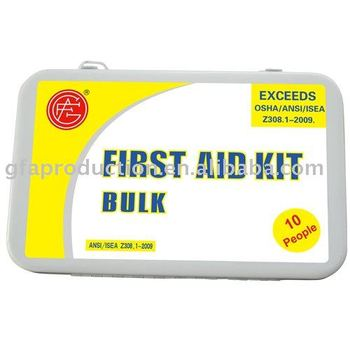 first aid kit metal for 10 person