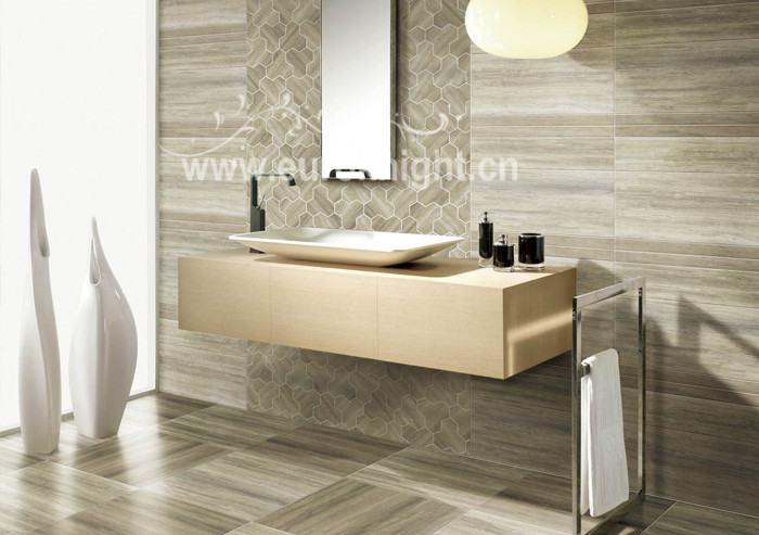 Italy designer wood look glazed polished ceramic tile for living room wholesale tile miami