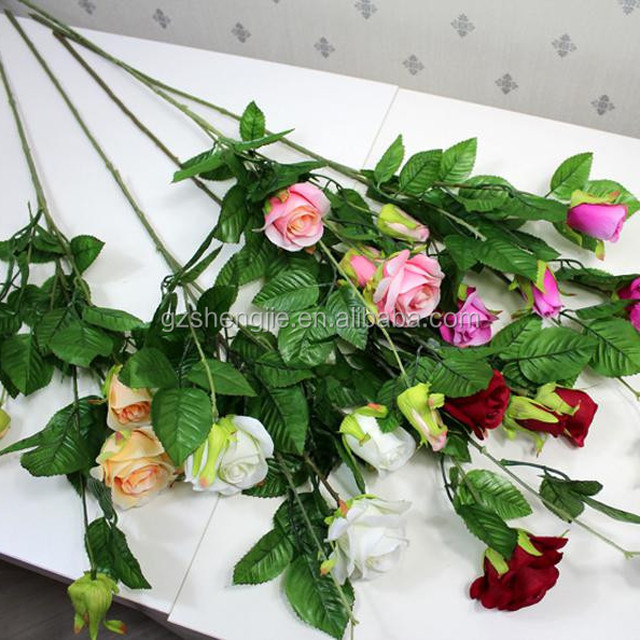 SJF14 Nearly natural rose flower , crystal rose flower , blooming artificial rose flower