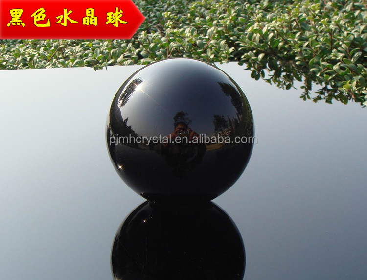 black crystal ball 80mm glass sphere with stand MH-BL019