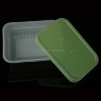 rectangular three compartments japanese bento box