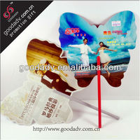 Made in china summer advertising gift cheap custom pp promotional fan