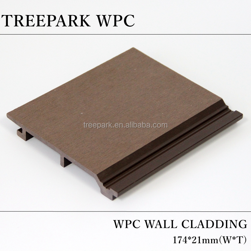 wood plastic composite WPC board pvc wood plastic exterior wall cladding