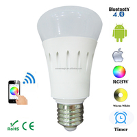 7w E27 Dimmable Smart Bulb Ground Control / RGBW LED Lighting Bulb WIFI Phone Control