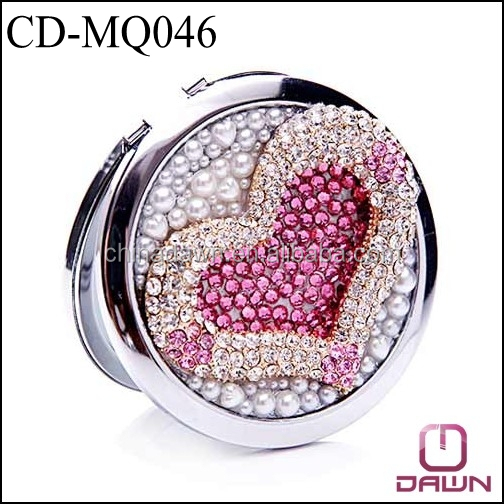 Saint Valentine's Day heart shaped gift compact mirror CD-MQ046