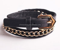 Buy Multilayer men's genuine leather braided rope ajustable band ...