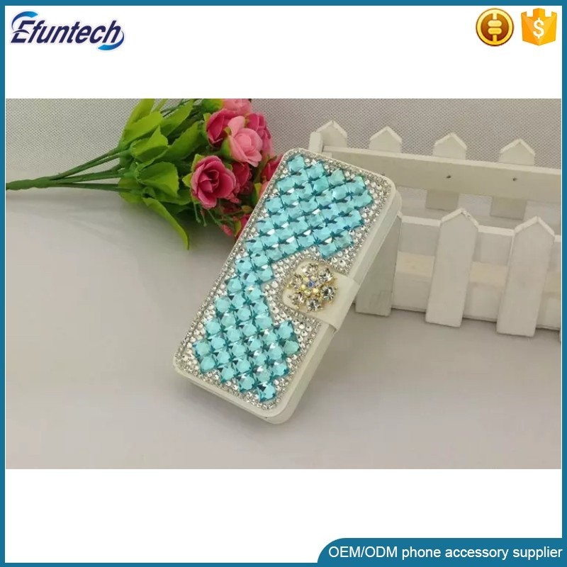 2017 new Shining diamonds luxury hand made wallet flip mobile phone case cover for iphone 6 6 plus case