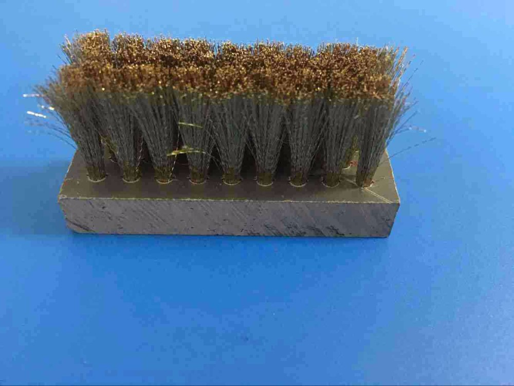 Aluminium alloy backing strip brush for door and windows and escalator