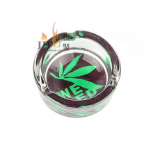 Cigar Tool Custom Wholesale Promotional Round JL-003S Cigar Glass Ashtray