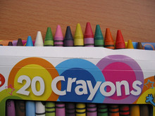 manufactory dia 8mm colour crayon in a color box