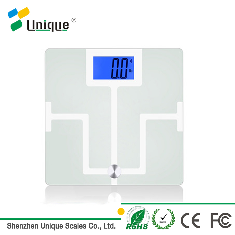 Unique Popular Classic Glass Smart Bluetooth Body Fat Bone Muscle Water Analyzer Scale with Elegant Design