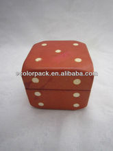 Dice shape custom pu leather jewelry watch boxes