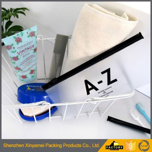 dot pattern printed plastic dustproof ziplock cosmetic bag new design best selling cosmetic transparent PVC plastic ziplock bag