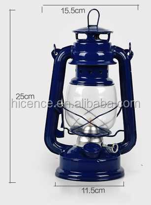 Durable Metal and glass Vintage kerosene lamp style LED lamp for home or store decoration