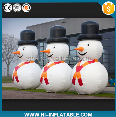 Mass production available high quality big inflatable snowman for christmas
