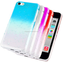 Accessories For Apple iPhone 5C 5S 6S Stylish 3D Rain Drop Hard Case Cover