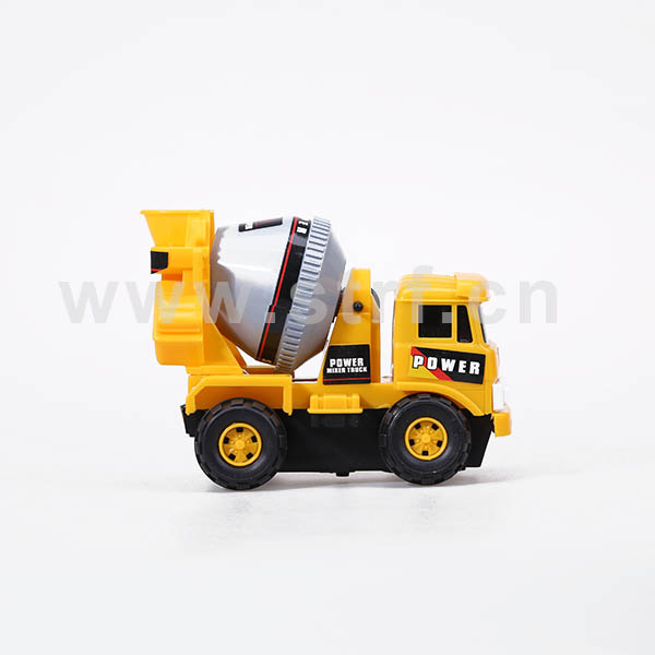 Freewheel plastic construction toy truck play set