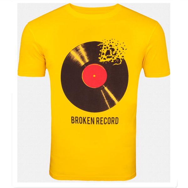 Fresh Yellow Broken-record boys stylish t-shirt